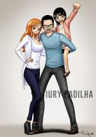 Commission: Nami, Alex and Daughter by iurypadilha