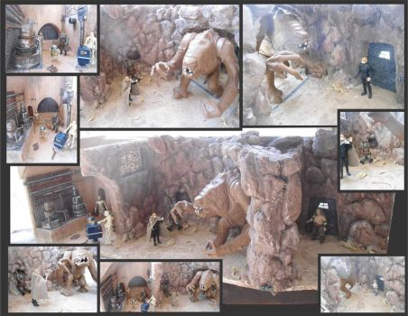 Rancor Pit-Droids Dungeon Diorama by egocenter