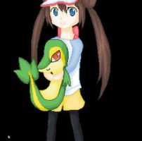 A Girl and her Snivy by minarui