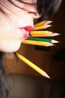 woman pencils 3 by petronieska-stock