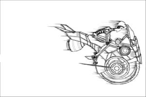 line : techno bike speed outline 2012 by darshan2good