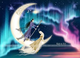Crescent moon. by jen-and-kris