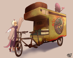 DRA-UNA prop Mini RV mortar bicycle by phation
