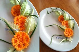 Carrot Cabbage Platter by Chuncarv