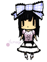 A chibi art trade with Iseanna by FruityBunny