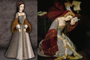 Anne Boleyn, Portrait Tower Gown by Inuyashasmate