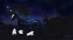 Moonlight - Ref - Comm by Astralseed