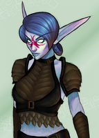 Commission: Night Elf by andarix