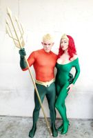 Aquaman and Mera by megmurrderher