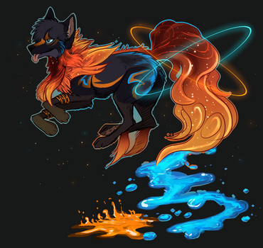 Painted Supernova Barcrylic AUCTION OPEN by Shiinrai
