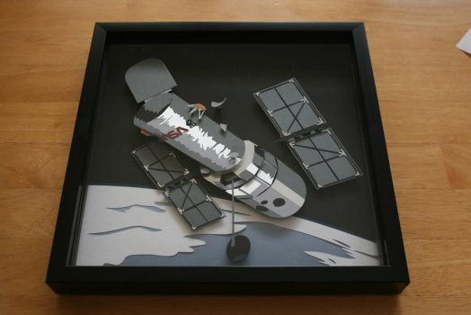 Hubble Space Telescope Shadowbox by valleyviolet