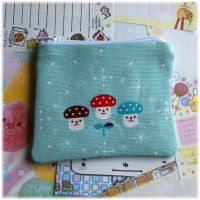 Decole Mushroom Zip Pouch by Keito-San
