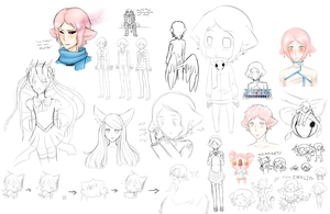 Mostly Cotton Candy Sketch dump by Roiaru