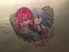 Sonic X Sally - Bed. by Tie-Rex1000000
