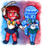 Sailor Ruby and Sapphire! by Marshmallow-Monster