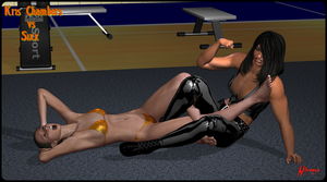 Kris vs Sixx Figure 4 leglock by nitroman65