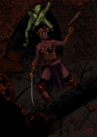 Dejah Thoris colored by Joe-Singleton