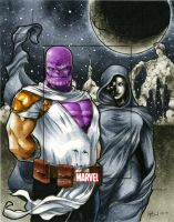 Thanos and Death MHV AP by RichardCox