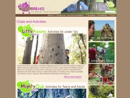 Wilderbreaks website clubs page by Adele-Waldrom