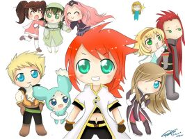Tales Of The Abyss Chibis by loletta91