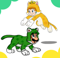 Purr-fect playmates by Nintendrawer