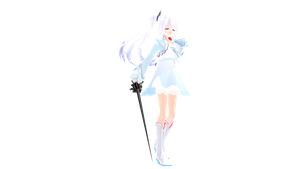 (MMDxRWBY) New Comer - Weiss Schnee by naruchan101