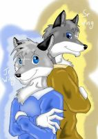 Wing Wolf - Father And Son [Request] by wingwolf88