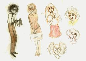 Edward Scissorhands sketches by marlenakate