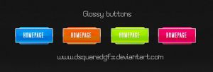 Glossy buttons FREE .PSD by dsquaredgfx