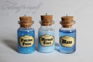 Blue potions by Charly-chan