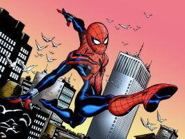 Spider-Girl | Panel Colourisation 1 by Cotterill23