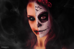 Zombie Sugar Skull by MyDigitalArt