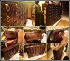 Asian Weathered Apothecary Cabinet by MauruCat