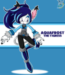 Aquafrost Sonic Riders outfit by kakyuuspark