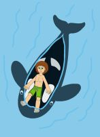The Boy ride on Orca by MCsaurus