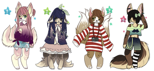 Vintage Kitsune adopts : CLOSED : by Samooraii