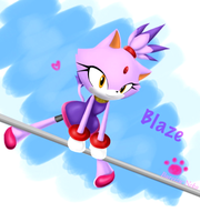 ::Com:: Blaze on uneven bars by Bureizu-Neko