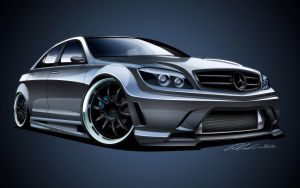 Mercedes AMG C63 by dazza-mate