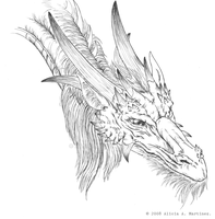 Dragon Sketch_Curious Dragon by Nashiil