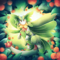 Pokemon Fusion - Lillimence by LimeRa