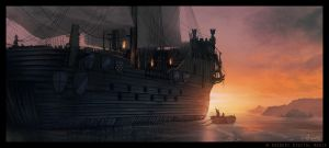 Boarding the Ship by ReneAigner