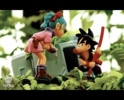 it all begins here kid goku and teen bulma by jeffbedash325