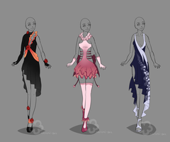 Dress Designs #2 - sold by Nahemii-san