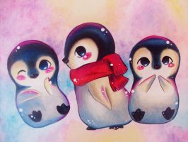 Penguins by paperscarecrow