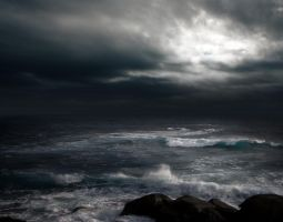 STORM AT SEA BG STOCK III by ArwenArts