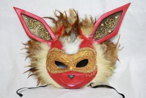 Flareon Carnival Masks by Cultureshock007