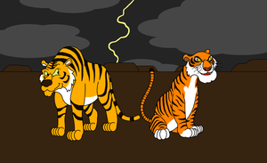 Crossover: Shere Khan meets Shere Khan by DarkDiddyKong