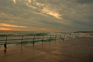 St Ouens high tide by davejsy