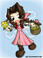 Aeris - Final Fantasy 7 by amy-art