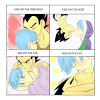 Kissy Meme: Vegeta Bulma by Emorephic